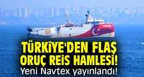 Türkiye'den flaş Oruç Reis hamlesi! Yeni Navtex yayınlandı!