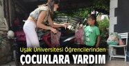 Uşak Üniversitesi Öğrencilerinden Çocuklara yardım