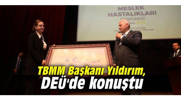 TBMM Başkanı Yıldırım, DEÜ'de konuştu