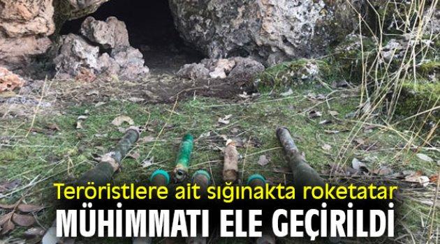 Teröristlere ait sığınakta roketatar mühimmatı ele geçirildi