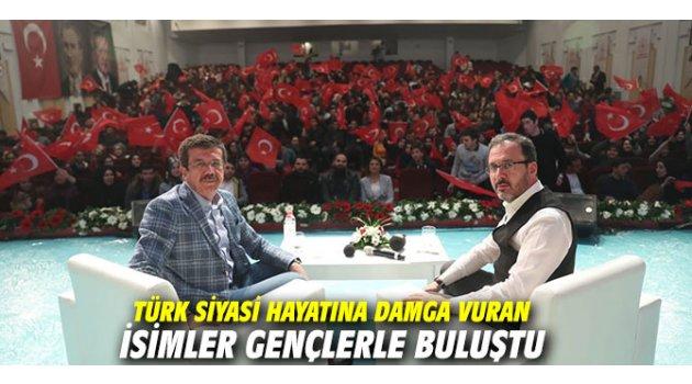 Türk siyasi hayatına damga vuran isimler gençlerle buluştu