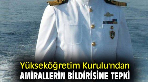 Yükseköğretim Kurulu'ndan amirallerin bildirisine tepki